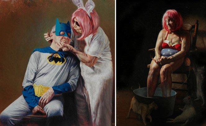 Artista retrata a velhice de um ponto de vista diferente