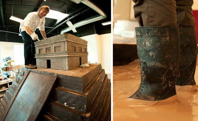 A maior escultura de chocolate do mundo pesa 8 toneladas