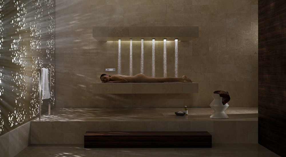 Chuveiro horizontal muda o conceito  de tomar banho