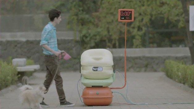 Wi-Fi grátis na praça em troca do cocô do seu cachorro