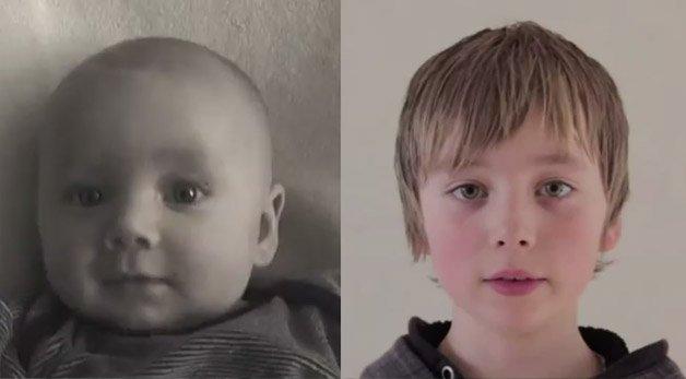 Pai faz time-lapse de seu filho desde o nascimento até os 9 anos