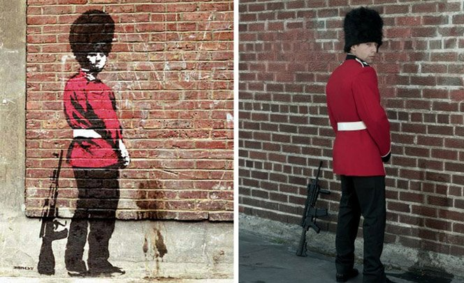 Personagens famosos de Banksy na vida real