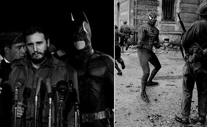 E se os super-heróis tivessem participado das guerras?
