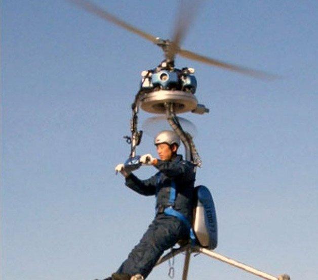 Helicóptero portátil como solução para o trânsito das grandes cidades
