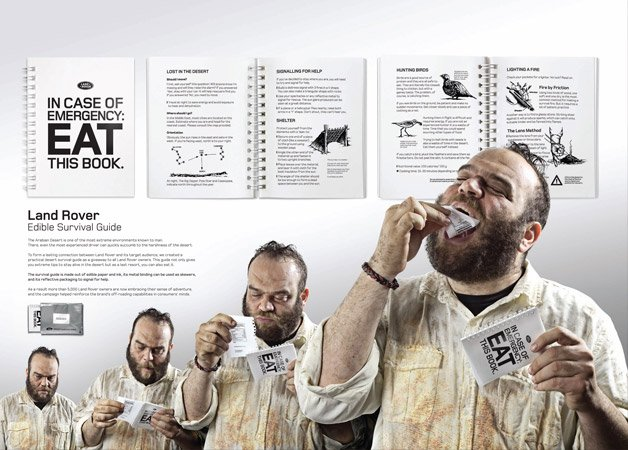 Manual de sobrevivência que você pode comer em caso de emergência