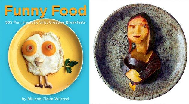Café da manhã criativo em fotografias divertidas