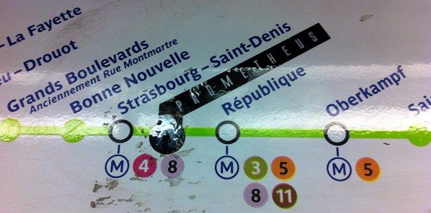 A estação fantasma do metro de Paris redecorada como uma gruta