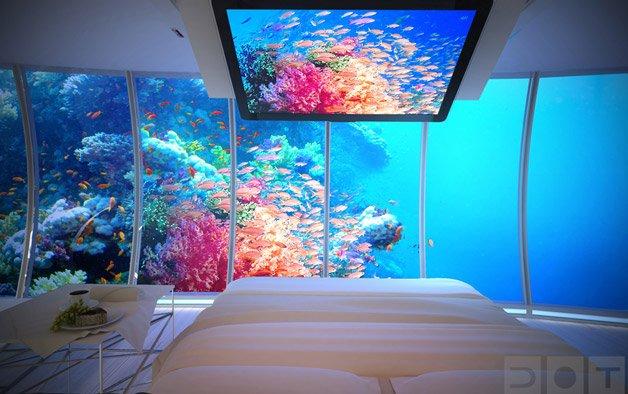 Hotel debaixo d'água em Dubai