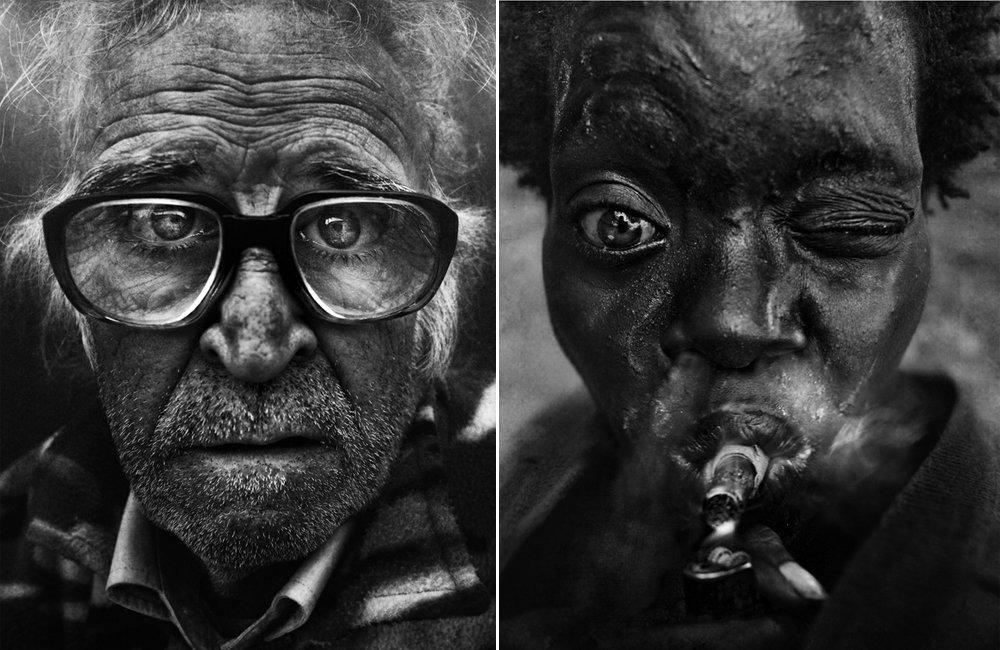Retratos emocionantes de moradores  de rua capturados por Lee Jeffries