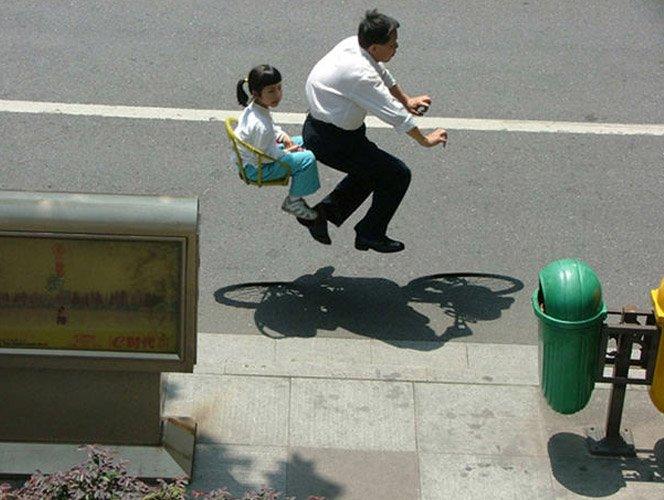 Bicicletas invisíveis na China