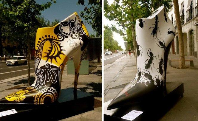 Shoe Street Art – Sapatos gigantes tomam as ruas de Madrid