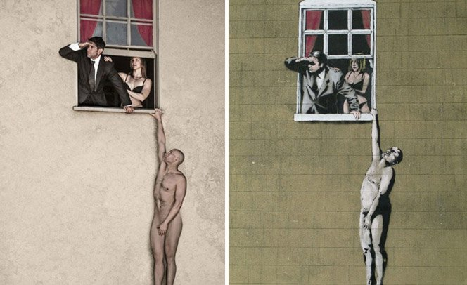 Personagens famosos de Banksy ganham vida