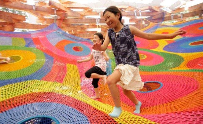 Playground gigante de crochê