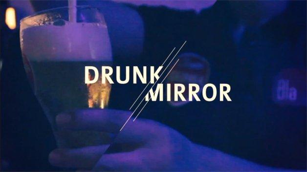 Espelho diferente alerta as pessoas sobre o risco de beber e dirigir