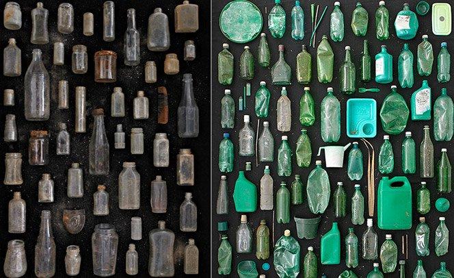 Ele recolhe lixo da natureza e cria arte com as peças encontradas