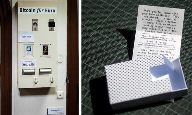 Máquina que transforma Euros em Bitcoins