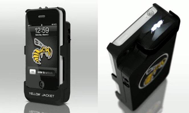 Case faz iPhone virar arma de choque