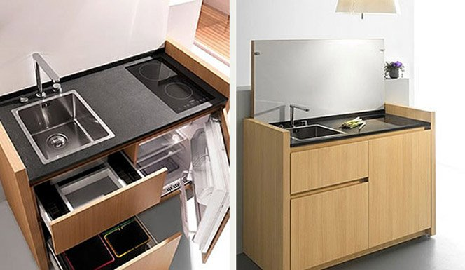 Mini cozinhas para mini apartamentos