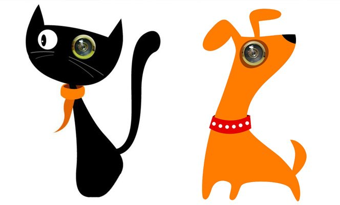Adesivos criativos para portas com olho mágico