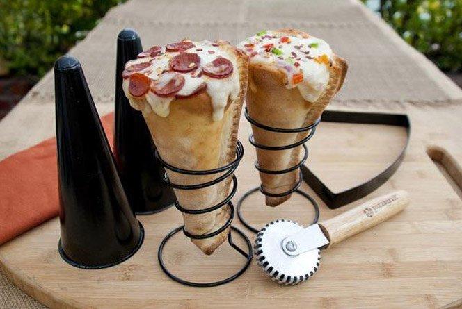 Faça sua própria pizza em cone