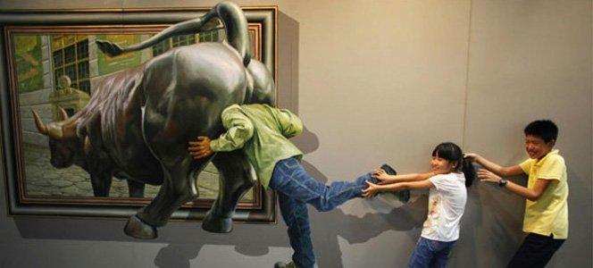 Obra de arte 3D e interativa