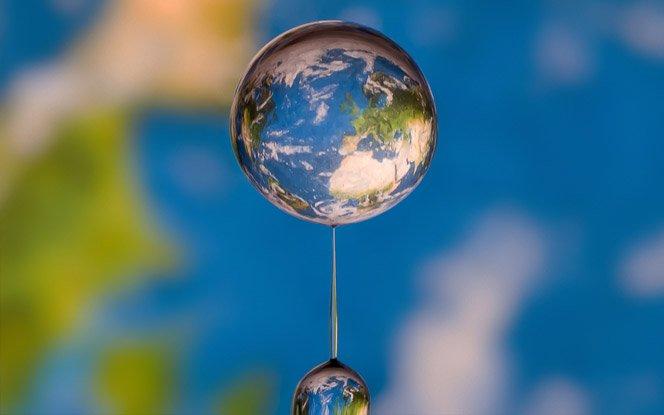 O mundo visto através de uma gota de água