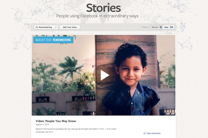 Facebook Stories conta histórias reais que aconteceram na rede