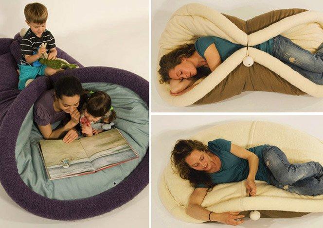 Cama, cadeira e brinquedo num só produto