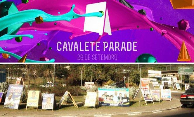 Cavalete Parade transforma propaganda política em obras de arte