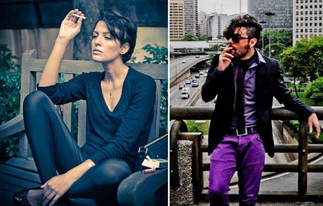 Ensaio fotográfico retrata pessoas fumando o último cigarro