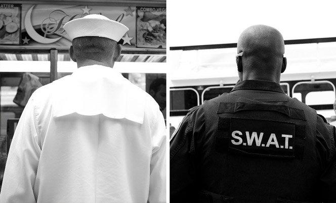 Ensaio fotográfico registra pessoas de costas em NY