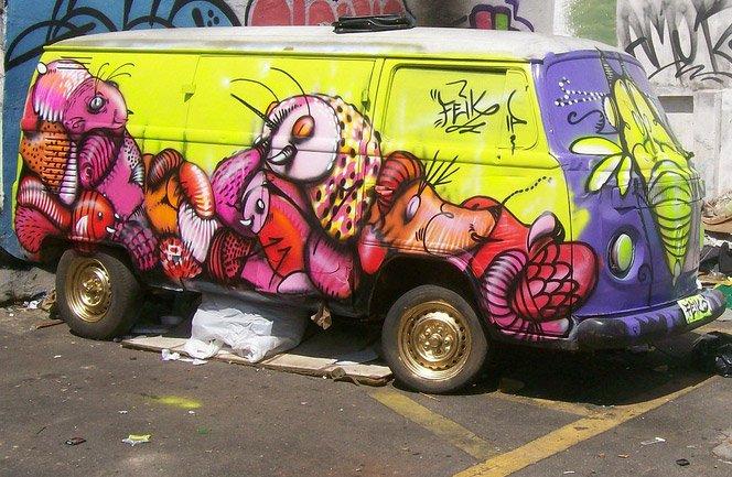 O graffiti do brasileiro Feik