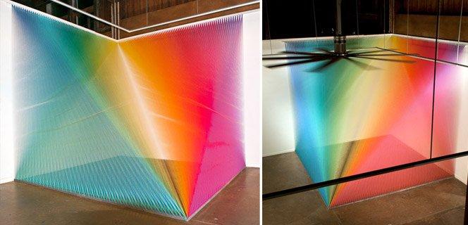 Arte com fios coloridos