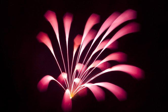 Fogos de artifício de um jeito que você nunca viu