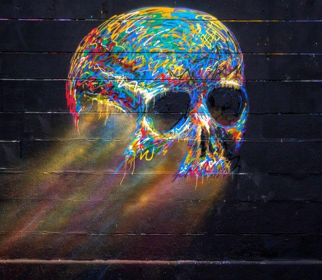 O graffiti colorido de Txemy