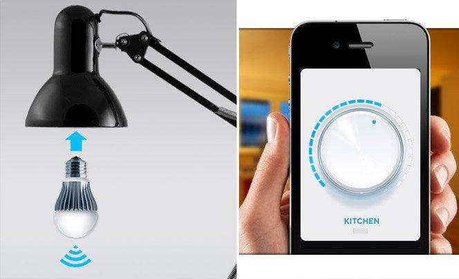 Lâmpada inovadora permite controlar cor e intensidade da luz pelo smartphone