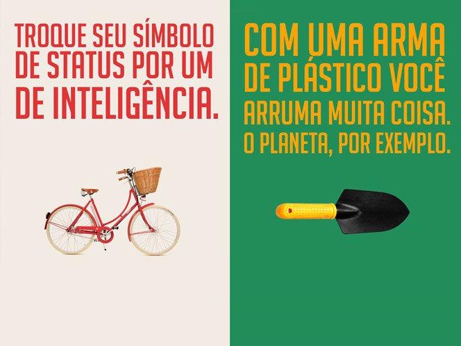 Série de posters divulgam que mudar o mundo é rápido, grátis e divertido