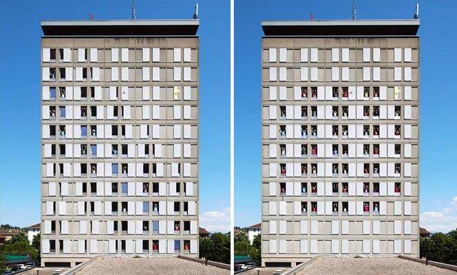 Stop-motion incrível usando um prédio de 11 andares