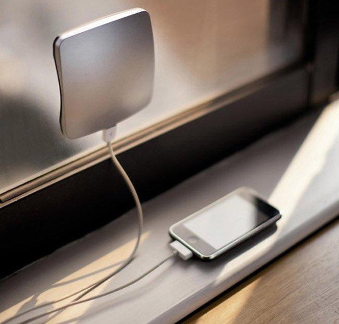 Carregue seu celular usando energia solar