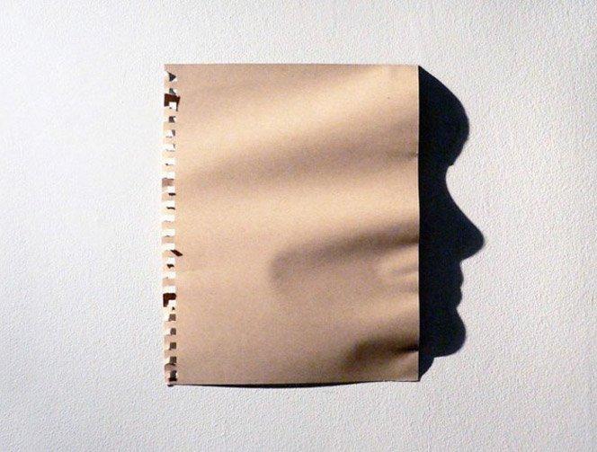 Retratos feitos com sombras