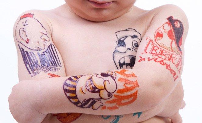 Tatuagens estilosas para crianças