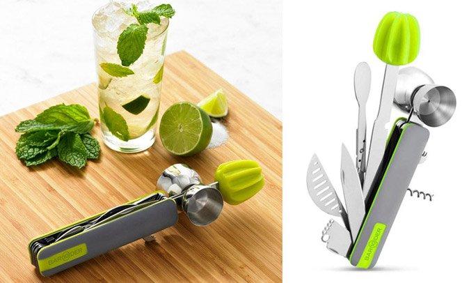 Canivete com mais de 10 ferramentas para fazer drinks em casa