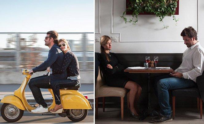 A trajetória dos relacionamentos em 13 fotos