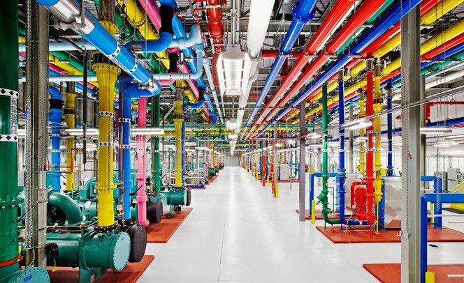 Google divulga pela primeira vez fotos incríveis de seus centros de dados