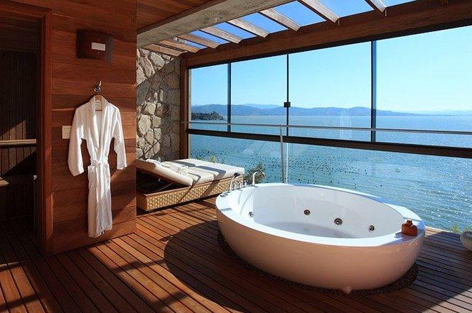 10 banheiros com uma vista fantástica