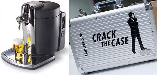 Ganhe uma chopeira Beertender Heineken adivinhando o que tem dentro da mala Crack the Case