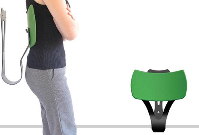 Produto inovador dá mais conforto para quem espera em pé
