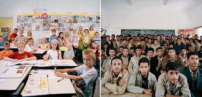 Fotógrafo registra salas de aula ao redor do mundo