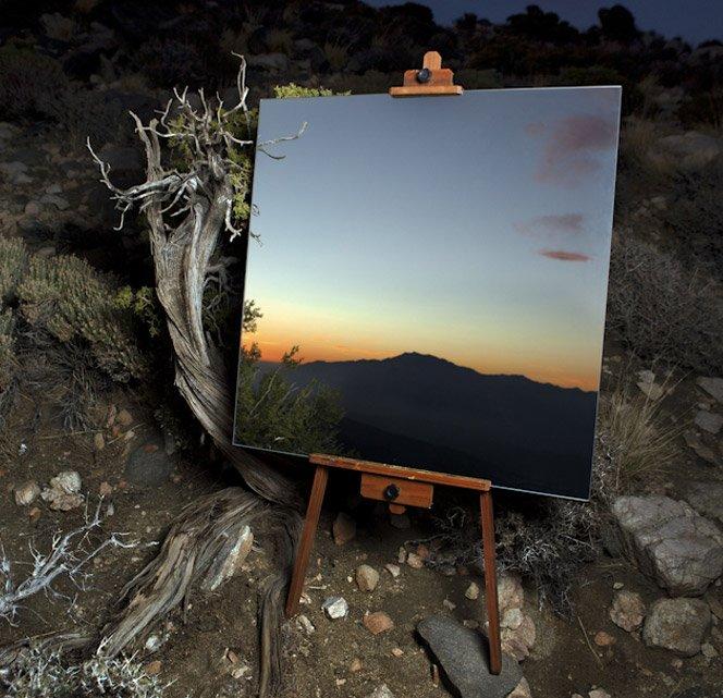 Fotógrafo usa espelho para criar efeito inovador em suas fotos de paisagem