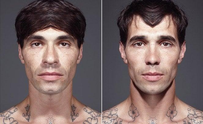 Como você seria se tivesse um rosto simétrico?